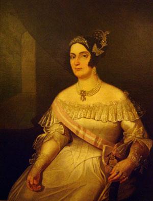 Retrato da Marquesa de Santos que veio do Rio de Janeiro para a mostra
