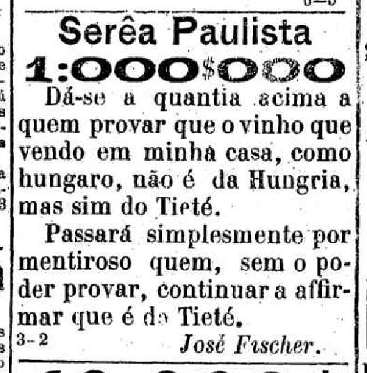 Sereia Paulista Provincia 21-12-1887