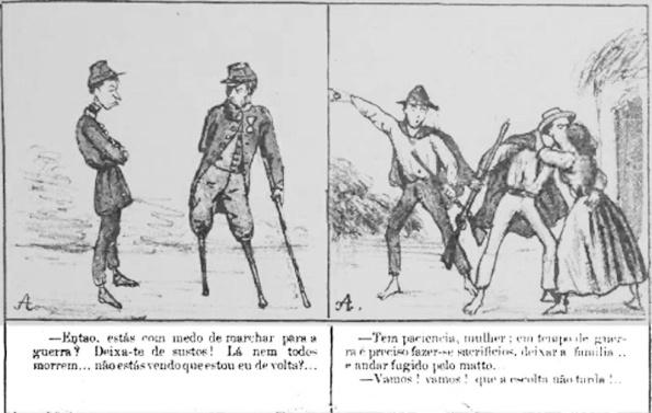 Charge Cabrião maio 1867 pb